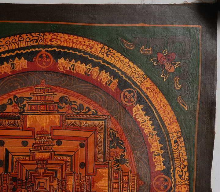 Buddhist Wedding Altar: Tibet Buddhism Mandala Thangka! Ethnic Hand Painting